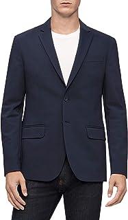 Calvin Klein 男士 Move 365 休闲抗皱高科技针织外套 天空船长 XX-Large