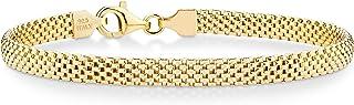 MiaBella 925 纯银意大利网环链手链 17.78 cm-20.32 cm