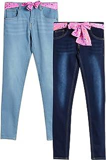 dELias 女童牛仔裤带腰带(2件装)