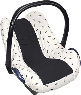 原装 Dooky Seat Cover 沙发套 黑色 羽毛 适用于婴儿座椅 通用尺寸 适合 3 和 5 点式*带系统汽车座椅 适合 0 岁以上年龄组 黑色