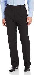 Haggar男士 条纹直筒正装裤