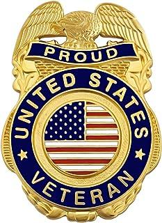 退伍军人别针 *自豪美国国旗退伍军人翻领别针