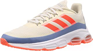 adidas 阿迪达斯男式 Quadcube 跑鞋,多色(粉笔白色/太阳红色/Glory 蓝色),9 英码