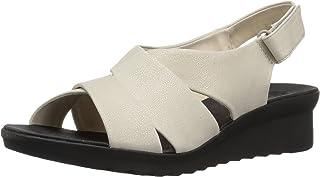 Clarks 女式 Caddell Petal 防水台凉鞋