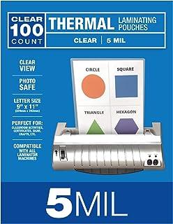 Samsill 100 包 5mil 热层压袋,信纸尺寸层压板 22.86 x 29.21 厘米,透明