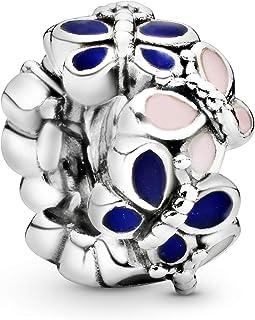 [PANDORA ] PANDORA Moment 蝴蝶 排列装饰品 垫圈 装饰品 多种颜色 (星星银, 漆) 正品 797870ENMX