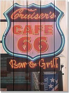 Gizaun Art Cafe 66 室内/室外全彩雪松墙艺术 棕褐色 28x36 CS2836