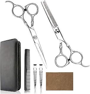 专业家庭理发剪套装 - 优质家庭理发剪刀 理发剪/沙发/家用稀疏剪刀套装,含梳子和盒子男女皆宜