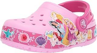 Crocs 卡骆驰男童和女童迪士尼公主乐队发光洞鞋