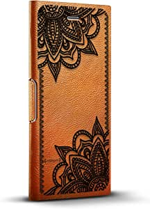 LuxendaryLUX-I8LTRBR-MANDALA5 BLACK LACE MANDALA iPhone 8/7/6/6s Tawny Brown