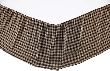 VHC Brands 黑色格子床裙