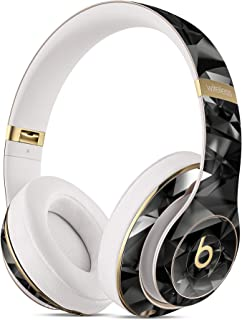 Dre Studio Remastered 无线耳机黑色 3D 钻石表面 DesignSkinz 全身皮肤套件/超薄/哑光表面/保护性皮肤包装