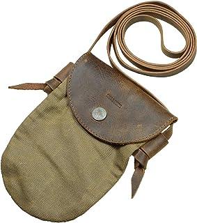 Hide & Drink,蜡帆布斜挎手机钱包、钱包袋、旅行必需品、配件、手工制作包括 101 年保修:*