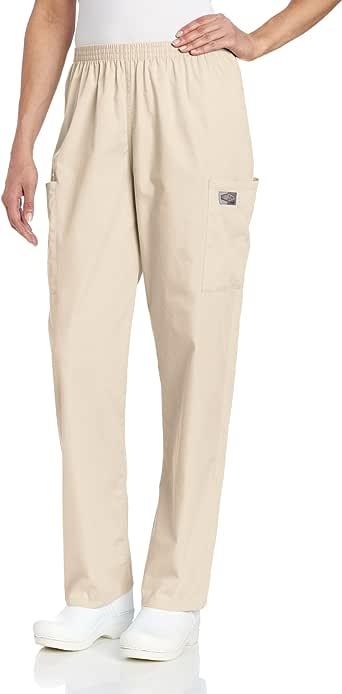 Landau 女式耐穿 2 口袋弹性腰带经典修身工装磨砂裤