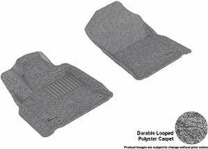 3D MAXpider 前排定制脚垫 适用于丰田坦途车型 - 经典地毯 灰色 L1TY14912201