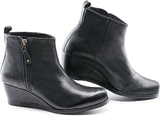 "Lola Miller Grace 2"" 坡跟皮革及踝靴侧拉链欧洲手工制造"