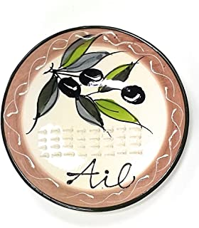 Terre 015310 奶油陶瓷大蒜石板,橄榄绿设计
