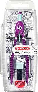 Herlitz 快可调节圆规钢笔带 zusatzminen 和 anspitz 机会 Pink/Minze