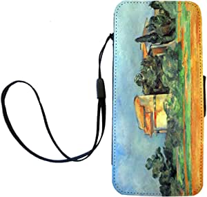 Rikki Knight Paul Cezzane Art Pigeonry in Bellvue Flip Wallet iPhoneCase with Magnetic Flap for iPhone 5/5s - Pigeonry in Bellvue