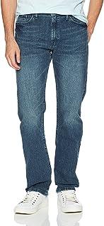 Nautica 男式5口袋修身直筒弹力牛仔裤