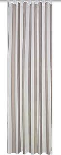 Home Fashion Tab-top 窗帘,织物,棕色,245 x 140 厘米