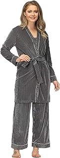 home swee 女式 3 件套休闲睡衣套装超柔软睡衣