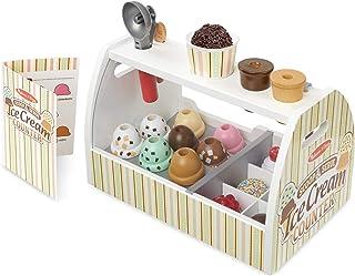 Melissa & Doug 木制勺子和冰淇淋柜台玩具(28件套装)-食物和配件套装