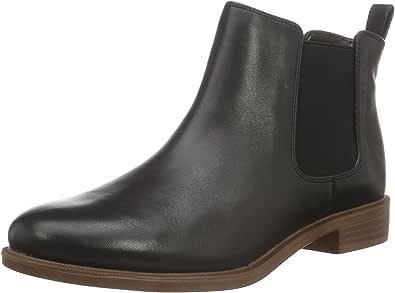 Clarks 女式 Taylor Shine 切尔西靴,Black Black Leather,3.5 UK