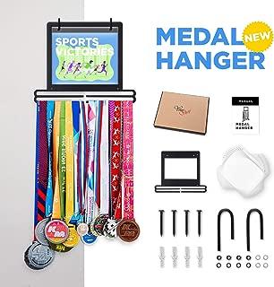 Prof Puro Sports 马拉松*章展示衣架,适用于 40 个*章 100 Runner 比赛围嘴 20 个翻转袋 用于比赛围嘴照片纪念品