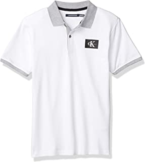 Calvin Klein 男童短袖翻领马球衫