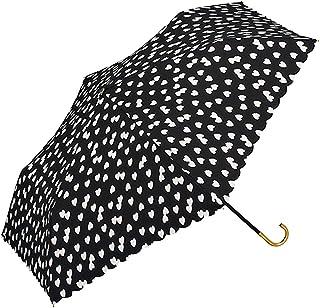 w.p.c WORLD PARTY 折叠雨伞 毛绒爱心 手动打开 黑色 50厘米 963-017