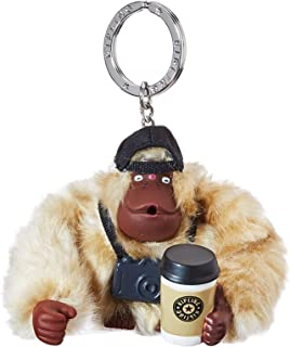 Kipling 凯浦林 Traveler Monkey 女式钥匙圈,银色,米色,8.5x7x5 厘米 (B x 高 x T)