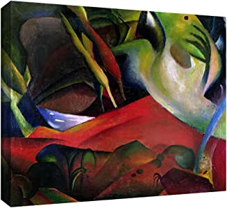 """ArtWall """"The Storm"""" Gallery Wrapped Canvas Art by August Macke, 24 by 32-Inch"""