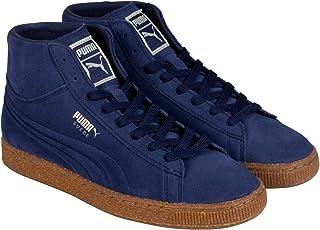 PUMA 麂皮中浮雕男式圆头麂皮绒蓝色运动鞋