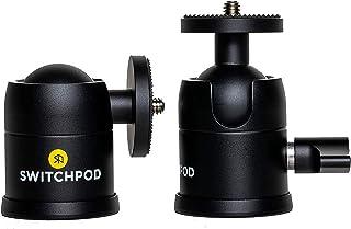 SwitchPod 球头铝制底座 360 度旋转 90 度纵向倾斜 适用于数码单反相机或手机适配器...
