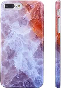 "KINFUTON 兼容 iPhone 7 Plus 手机壳,iPhone 8 Plus 手机壳,适合女士女孩软硅胶透明缓冲哑光 TPU 超薄可爱保护手机保护套适用于 iPhone 7 Plus iPhone 8 Plusiphone 7 plus case.iphone 8 plus case 5.5"" Colorful Marble-K35"