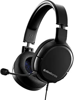 SteelSeries 赛睿 Arctis 1 - 全平台兼容 - 适用于PS4、PS5、PC、Xbox、Nintendo Switch & Lite、Mobile - 可拆卸 Clearcast 麦克风(PS4)