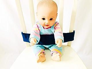 黑色蓝色和灰色通用婴儿*带,婴儿和幼儿高脚椅*带,儿童购物车胸背带 *蓝 One size fits all highchairs and shoppingcartcover
