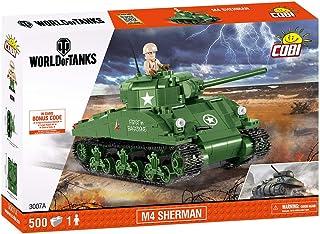 COBI M4谢尔曼坦克拼接玩具 COBI-3007A,绿色