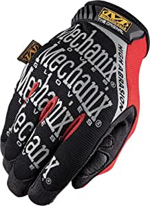 Mechanix Wear - Original High Abrasion Gloves (XX-Large, Black/Red)