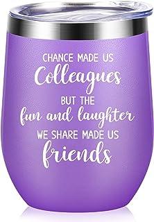 Chance Made Us Colleagues - 男女同事礼物 - 同事离开,外出,告别,工作,感激,友谊,同事的生日礼物 - 340.19 克酒杯 深紫色 12oz