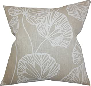 "The Pillow Collection Fia Floral Euro ShamNatural 天然 European/26"" x 26"" EURO-PT-SANDYPOND-SAND-L55C45"