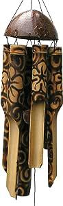 Cohasset Gifts 竹风铃声 自然美丽声音 木质户外家居装饰 - 烧花 中 167
