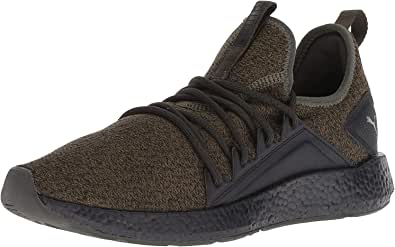 PUMA 彪马 男士 Nrgy Neko 针织运动鞋 Forest Night-puma Black 8.5