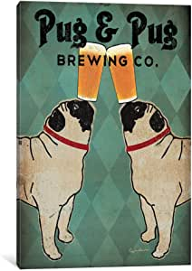 iCanvasART WAC1130-1PC6-26x18 Pug Pug Brewing Canvas Print, 26 by 18-Inch, 1.5-Inch Deep