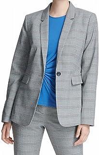 DKNY 女式格子西装单纽扣外套
