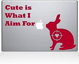 贴花 Guru 可爱兔子狩猎 Macbook 贴花 乙烯基贴纸 - 15 英寸 Macbook Pro(2016 及更新版本) - 红色 (1247-MAC-15X-DR)