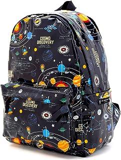 COLORFUL CANDY STYLE 帆布背包 儿童用 太阳系行星和宇宙象征 黑色 N0738100