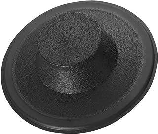 水槽塞,拉丝/不锈钢厨房水槽垃圾处理排水塞,适合Kohler,保温器,大号双人床和其他品牌 Essential Value出品 Black Stopper EV-SinkStopper-Plastic