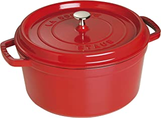 Staub 珐宝 珐琅铸铁锅 圆形铸铁炖锅 28cm 樱桃红